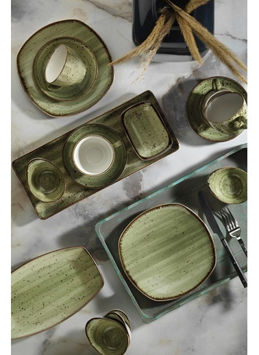 Kütahya Porselen Kütahya Porselen Corendon 30 Parça Kahvaltı Takımı Yeşil